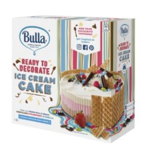 Bulla Ready To Decorate Ice Cream Cake
