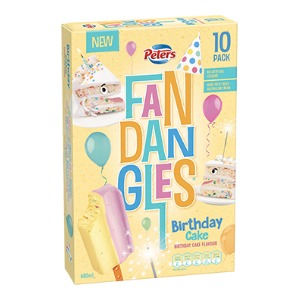 Peters Ice Creams Fandangles Birthday Cake Flavour