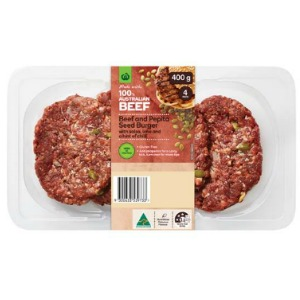 Woolworths New Fresh Burgers The Grocery Geek