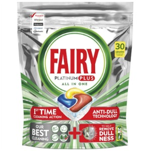 Fairy Platinum Plus All In One Lemon Dishwasher Tablets